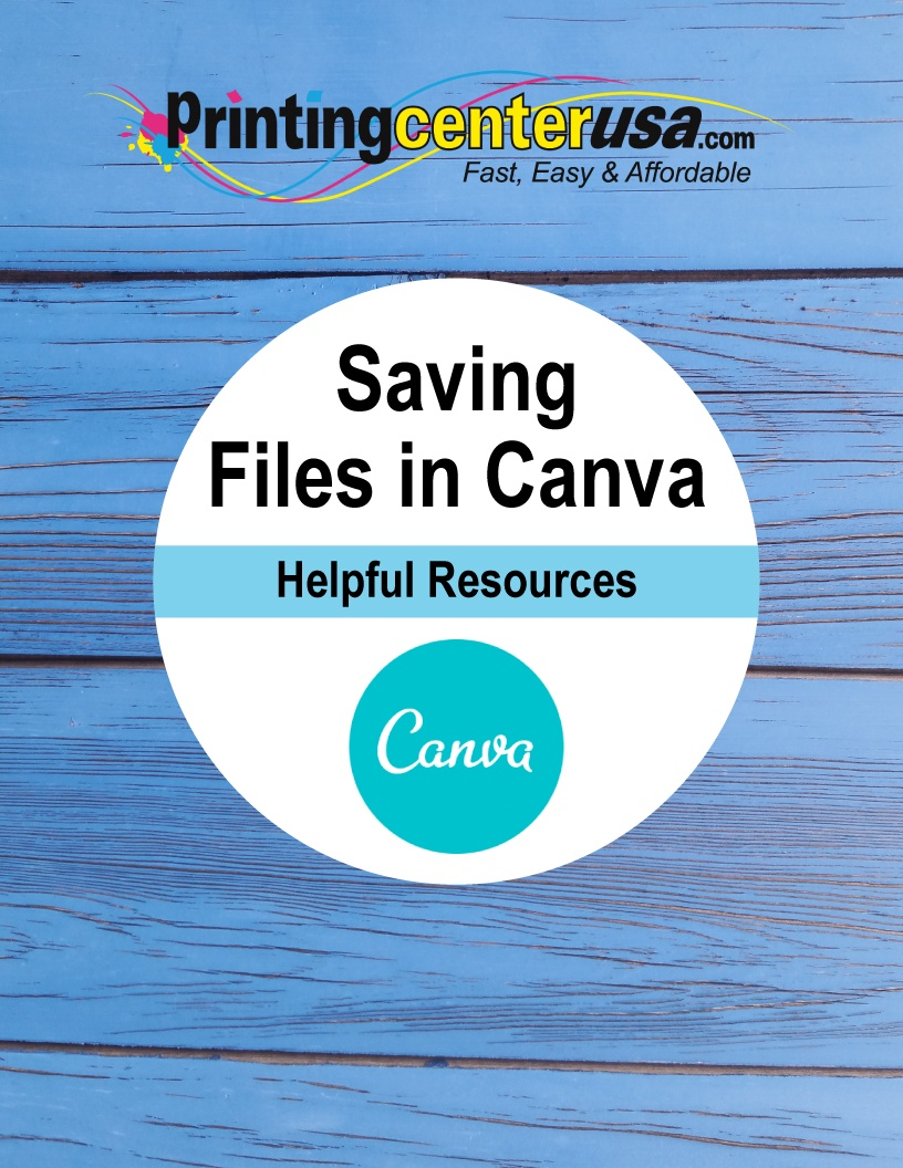 Saving Print-Ready Files in Canva